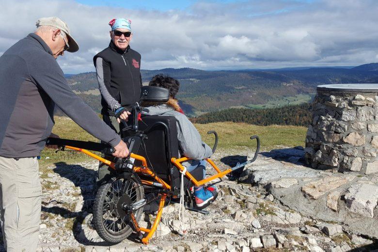 Sortie joelette – Monts Jura Handisports