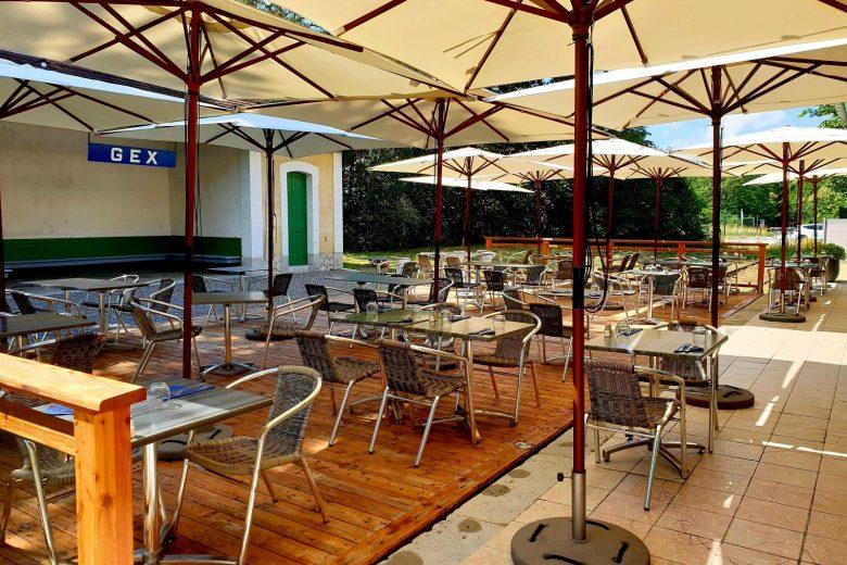 Terrasse du Restaurant sur les rails